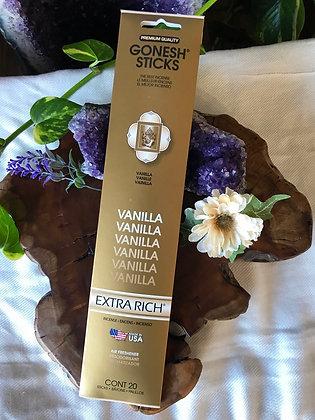 Gonesh Sticks Vanilla Extra Rich Incense