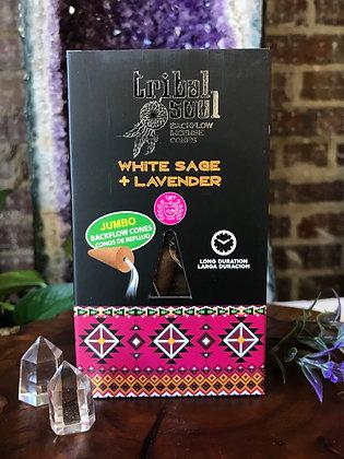 Tribal Soul White Sage & Lavender Backflow Incene Cones
