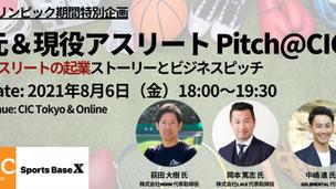 元 & 現役アスリート起業家 Pitch@CIC 〜アスリートの起業ストーリー〜 をテーマに8月6日にCIC Tokyoとの共催イベントを開催