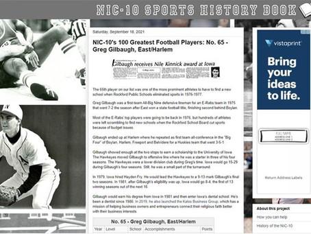 NIC-10's 100 Greatest Football Players: No. 65 - Greg Gilbaugh, East/Harlem