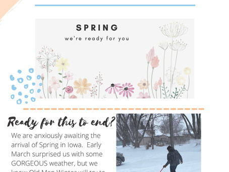 Early Spring Newsletter 2021 - Iowa River Dentistry
