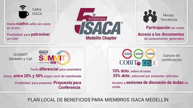Plan Local Beneficos membresía ISACA Medellín