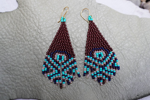Native Strip Beaded Earrings