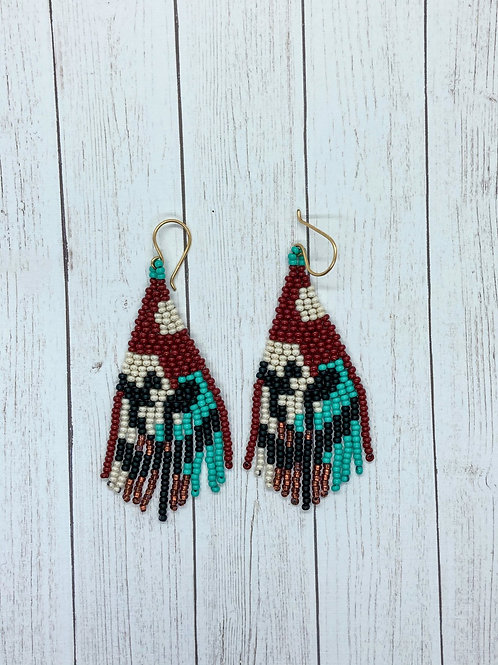 Desert Flower Beaded Earrings