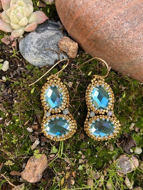 Glass Cabochon Earring