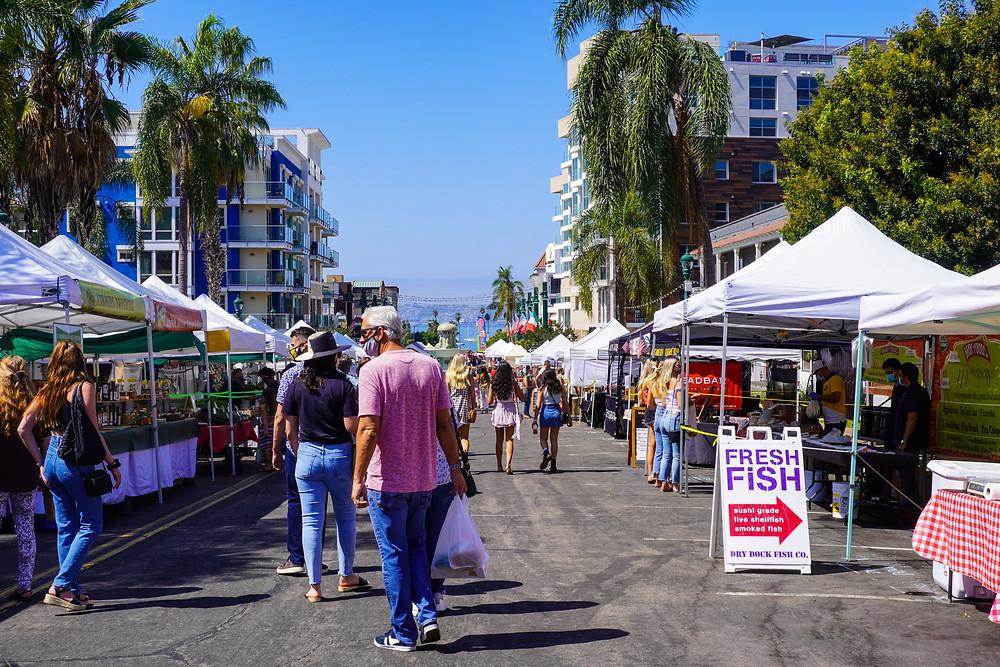 Little Italy Farmers Market San Diego California Blue Skies