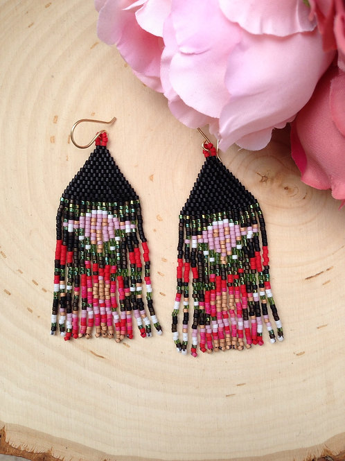 Floral Beaded Earrings