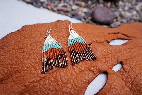 Terracotta Beaded Earrings