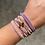 Thumbnail: Multi Strand Beaded Bracelet - Purple/Pink
