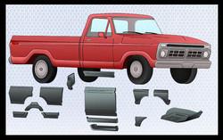Ford Truck Rust Repair Panels
