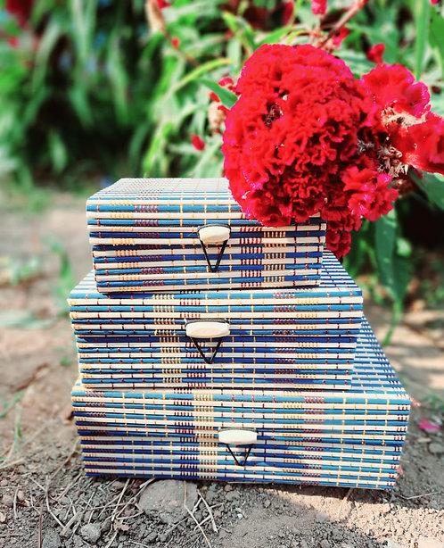 Haastika Handmade 3 Set Wooden Jewellery Box