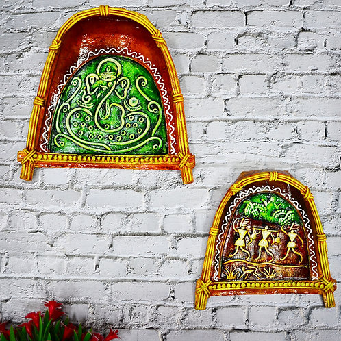 Haastika Handmade Paper Mache Combo Wall Hanging for Home Décor