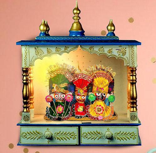 Haastika Idol Lord Jagannath, Balaram & Subhadra Devi Decorative Showpiece