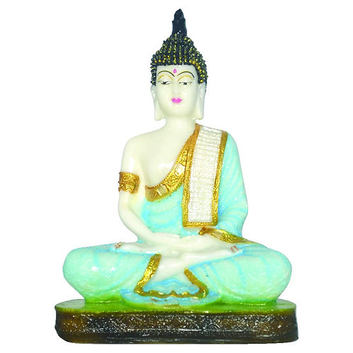 Haastika Marble Lord Buddha - Blue