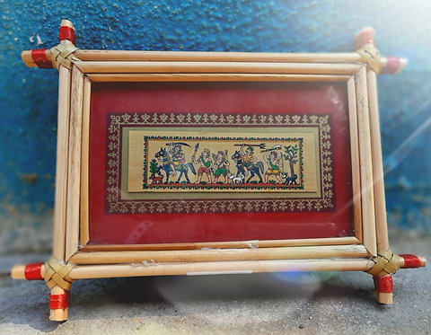 Haastika Wall Hanging Palm Leaf Painting Frame| Home Decor|Wall Hanging|Frame
