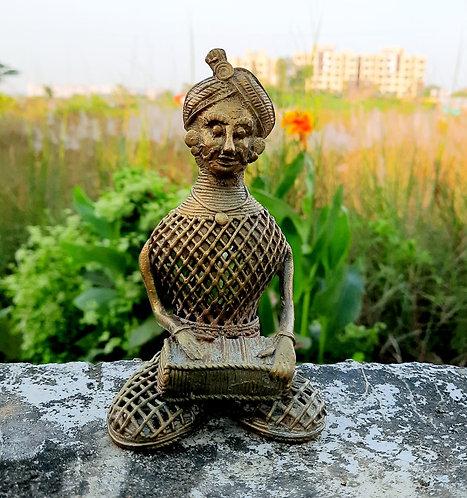Haastika Dokra Harmonium Player showpiece/Home Decor/Gift Item