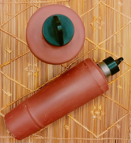 Haastika Mitti Clay Water Bottle - (Terracotta, Brown)