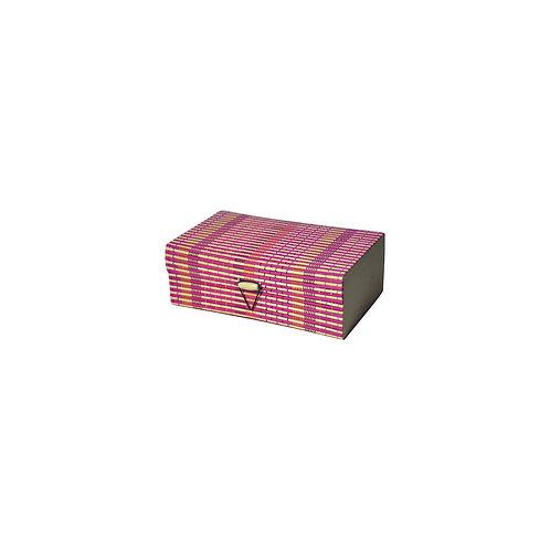 Haastika Handmade Wooden Jewellery Box/Jewellery Organizer Box - Multi Color/S