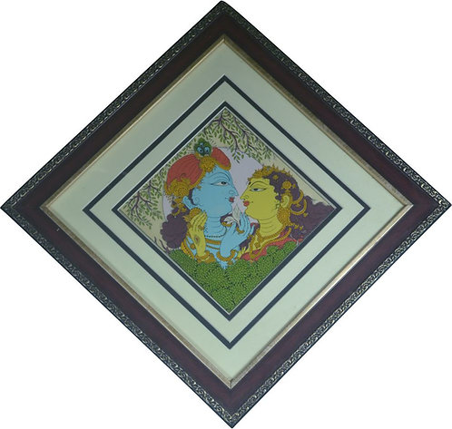 Haastika Radha Krishna Palm Leaf Painting