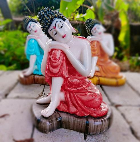 Haastika Marble Lord Buddha - Red