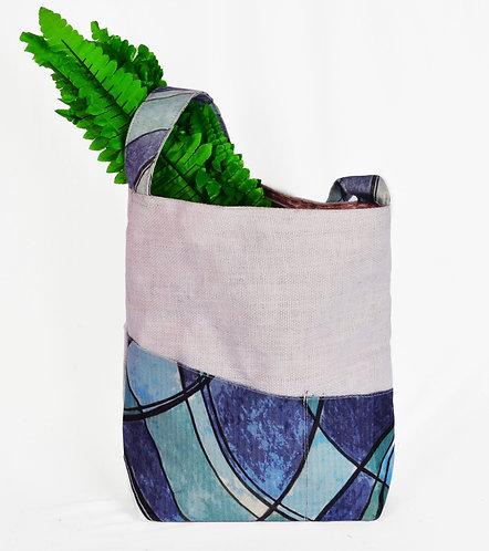 Haastika Robert Weber Jute, Canvas & Ikat Shoulder Bag