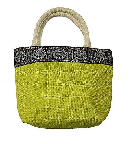 Haastika Women's Jute Shoulder Bag (Green)