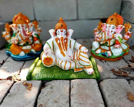 Haastika Marble Ganesha Statue Idol Gift Showpiece
