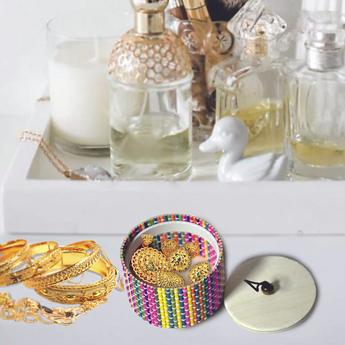 Haastika Handmade Wooden Jewellery Box/Jewellery Organizer Box - Multi Color��