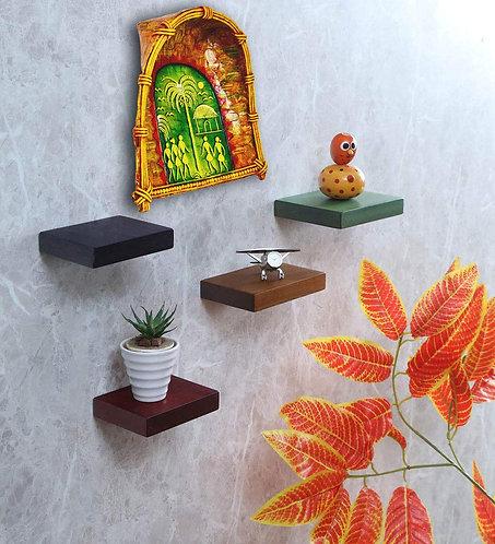 Haastika Handmade Paper Mache Wall Hanging 16X10 inch (Multicolour)