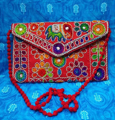 Haastika Handmade Designer Embroidered Clutch Bag For Women's