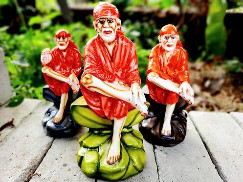 Haastika Marble Lord Sai Baba Statue Idol Gift Showpiece