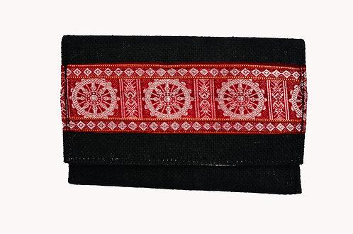 Haastika Handmade Black Colour Jute Clutches