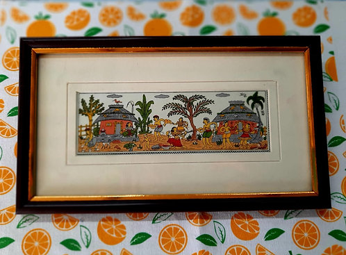 Haastika Traditional Tribal Village People Life Style on Pattachitra,Palm Leaf