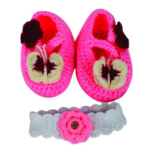 Haastika New Woollen Baby Booties 0 to 3 Months