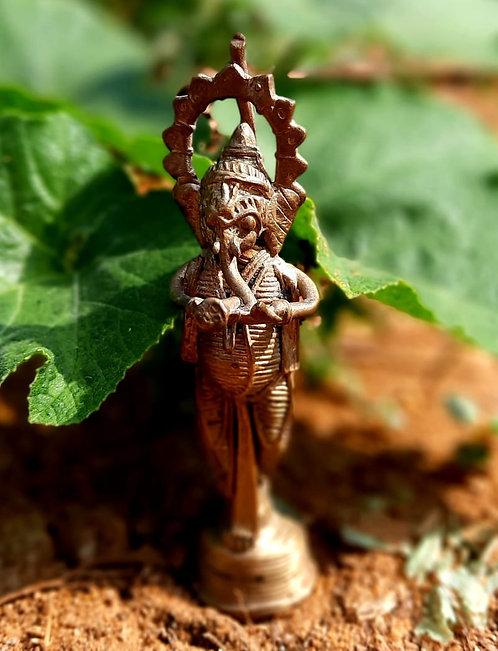 Haastika Dokra Ganesh Showpiece