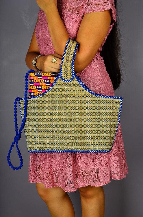 Haastika Madurkathi Magazine Holder Bag