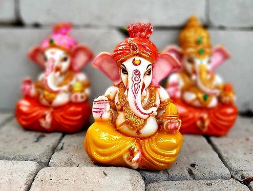 Haastika Marble Ganesha Statue Idol Gift Showpiece Murti for Home and Decoratio