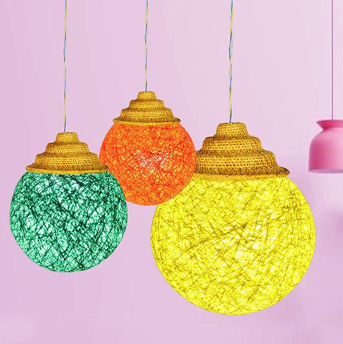 Haastika Handmade Golden Grass Light Bulb (Pink)