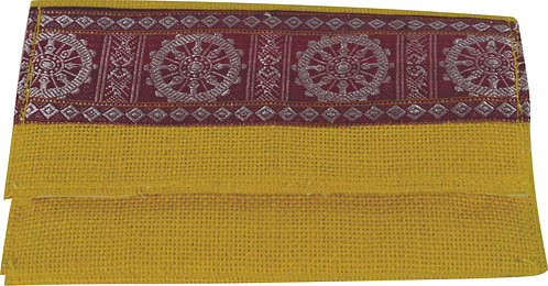 Haastika Handmade Yellow Color Jute Clutches