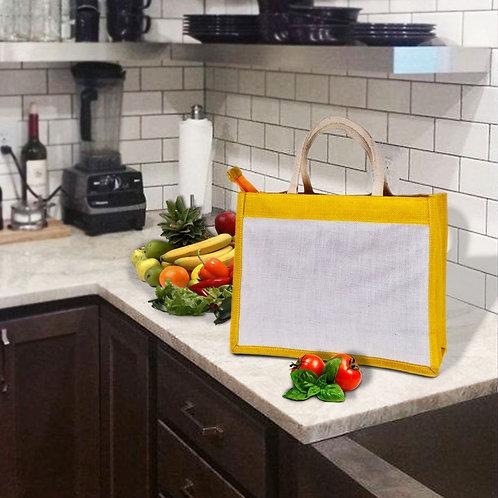 Haastika Printed Jute Lunch Tiffin Bag for Men & Women