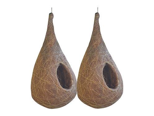 Haastika Coir Craft Birds Nest (Natural) -Combo of 2