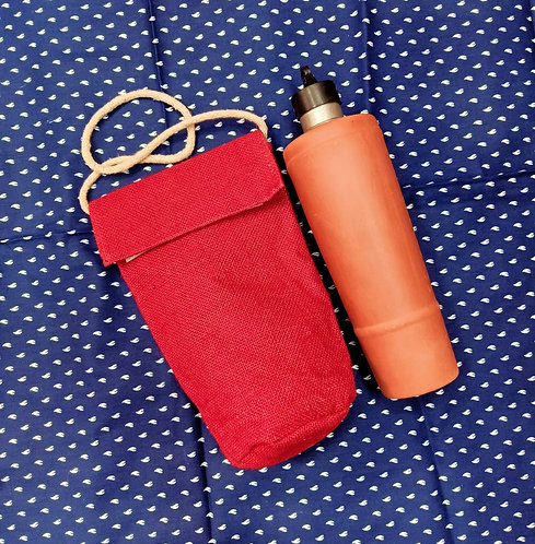 Haastika Red Water Bottle Bag(10 inch x 4 inch)