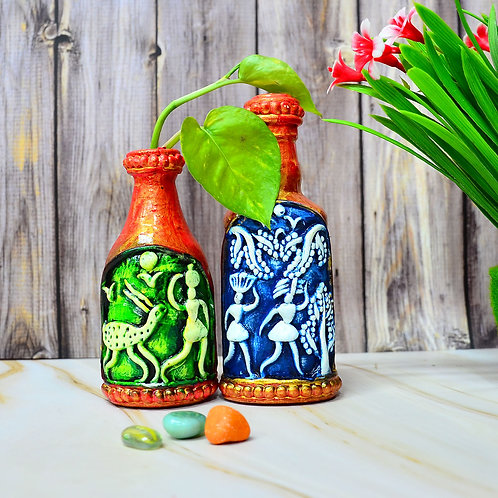 Haastika Decorative Small Bottle Art Combo for Home Décor