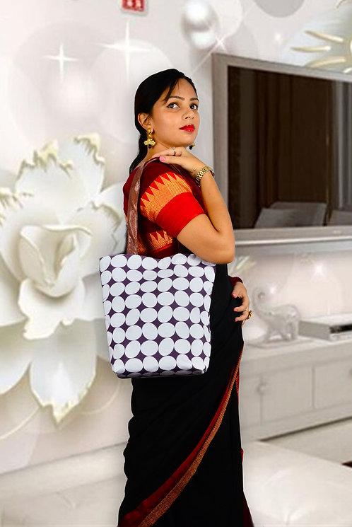 Haastika Handmade Canvas & Ikat Tote Bag | Natural Sustainable Reusable Bag