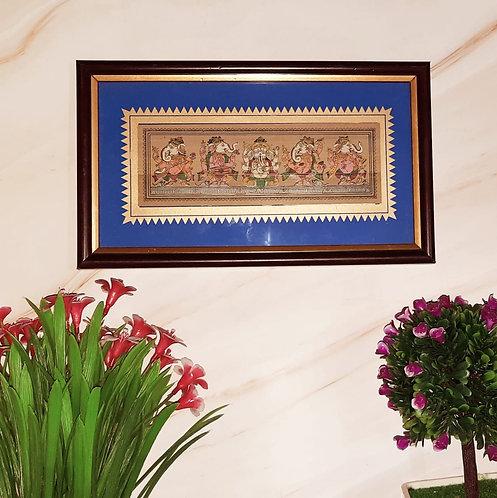 Haastika 5-Avatar Ganesh Palm Leaf Paintings