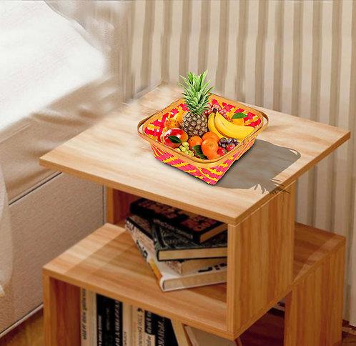 Haastika Bamboo Handmade Eco-Friendly Multipurpose Utility Tokri/Flower Basket