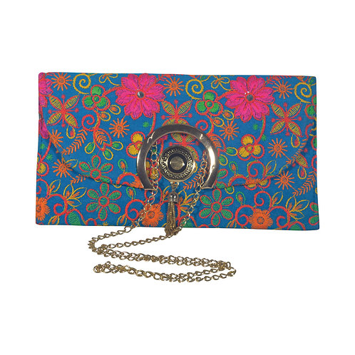 Haastika Embroidered Work Party Clutch Bag Purse For Women