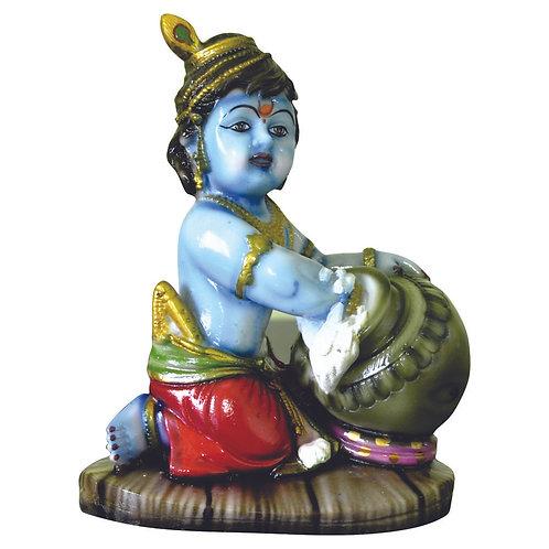 Haastika Marble Lord Sree Krishna Statue Idol Gift Showpiece