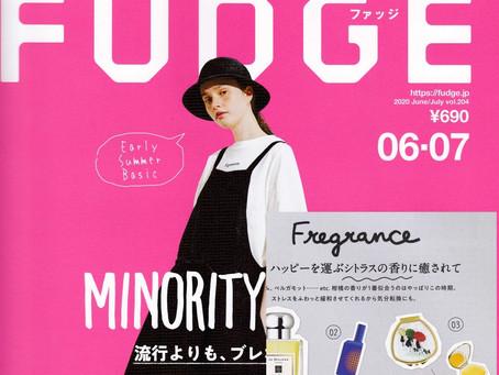 FUDGE 2020.6-7月号掲載