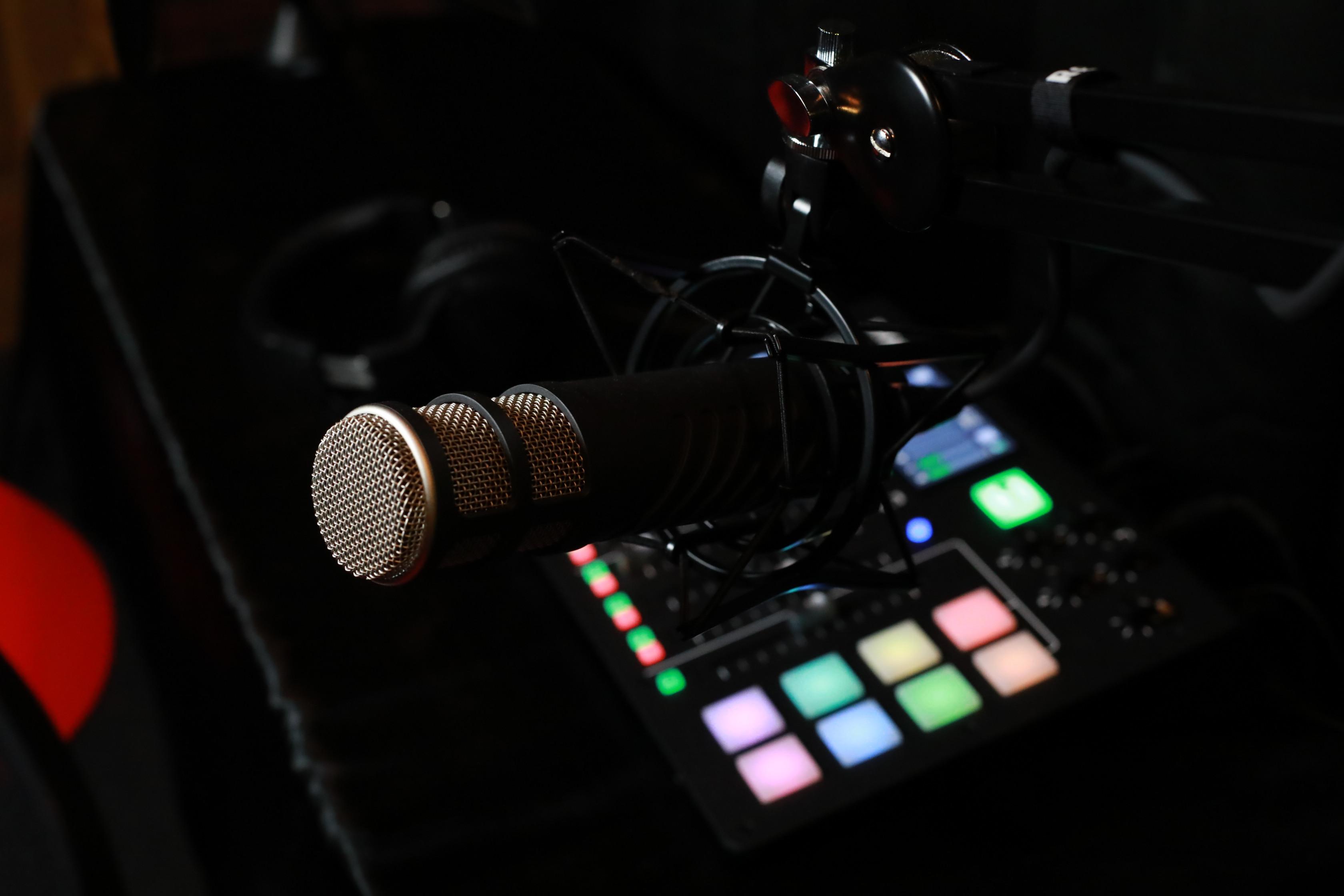Podcast Audio Recording Session
